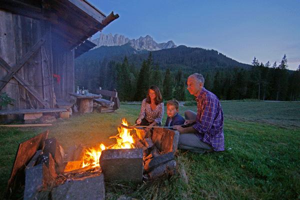 Familienurlaub auf der Berghütte