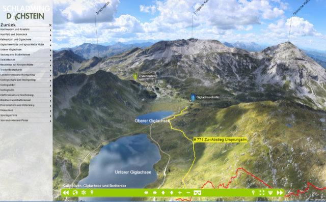 Praktischer Online-Service - 360-Grad-Panorama-Ansicht macht Weitwanderungen perfekt planbar