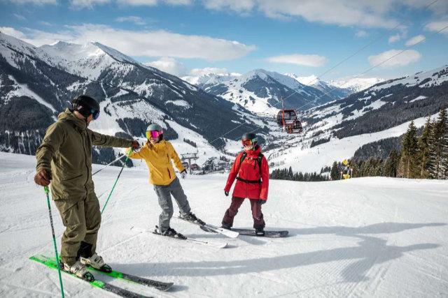 Winterglück auf einer Karte im Salzburger Land
