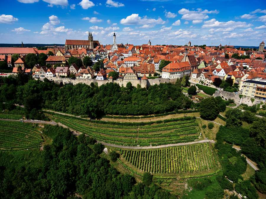 Gaumenfreuden und Naturgenuss in Rothenburg ob der Tauber