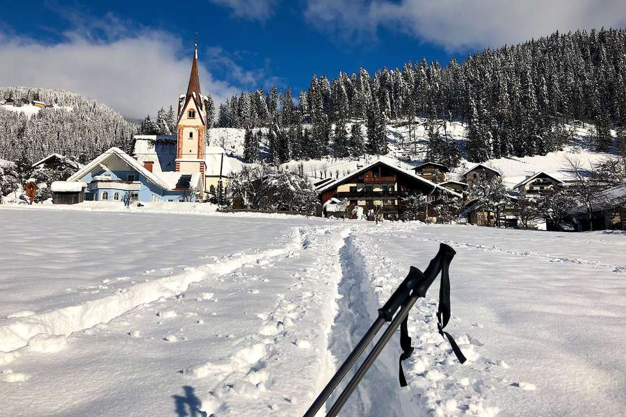 So beschaulich kann der Winter in Österreich sein