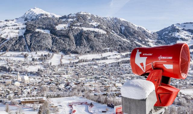 Official Supplier der Hahnenkamm-Rennen liefert Schneeerzeuger im Spezialdesign
