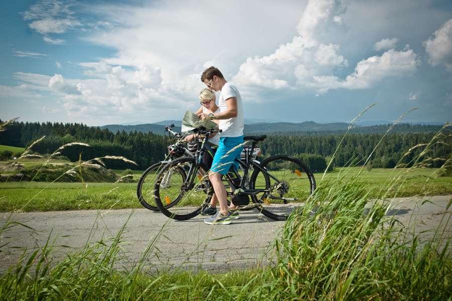 Mit dem Fahrrad durch den Urwald Bayerischer Wald