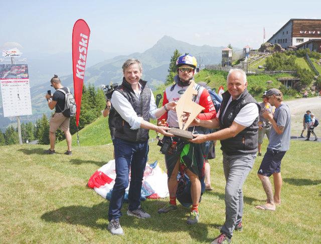 Paul Guschlbauer erreichte als Erster den Turnpoint Hahnenkamm in Kitzbühel