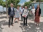 Hans-Georg Lohe (Kulturdezernent Landeshauptstadt Düsseldorf), Barbara Til (stv. Sammlungsleiterin Kunstpalast Düsseldorf), Dr. Gregor Jansen (Direktion Kunsthalle Düsseldorf), Thomas Geisel (Oberbürgermeister Landeshauptstadt Düsseldorf), Thorben Meier (Düsseldorf Marketing GmbH), Anne Fischer (Marketingleitung Kunstsammlung Nordrhein-Westfalen)  / Foto:(c) Düsseldorf Marketing